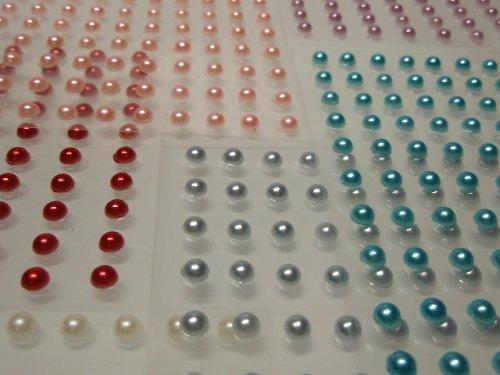 19609-5 Nalepovací kamínky perly MIX karet 5 barev
