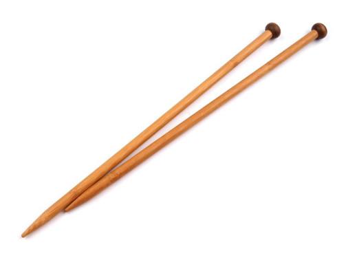 Rovné jehlice č.10 bambusové - 1 pár