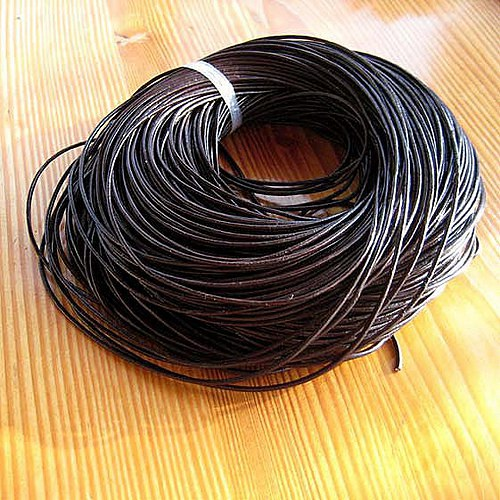 Kulatá Kůže 2,5mm - Tmavě Hnědá