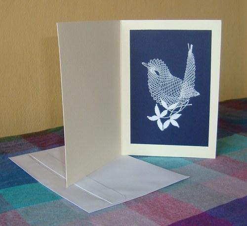Paličkované přání - Ptáček 3