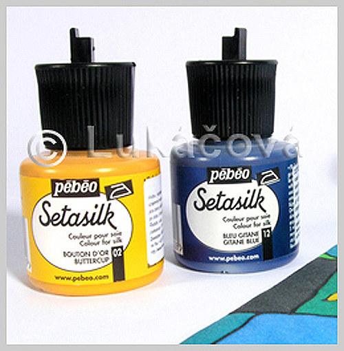 Barva na hedvábí SETASILK, 45ml - teplo