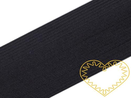 Hladká černá guma - pruženka - šířka 6 cm