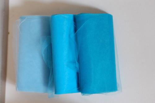 Tyl -role 22 metrů- modré odstíny