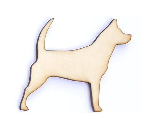 Pes ze dřeva (obrys) - šíře 5 cm