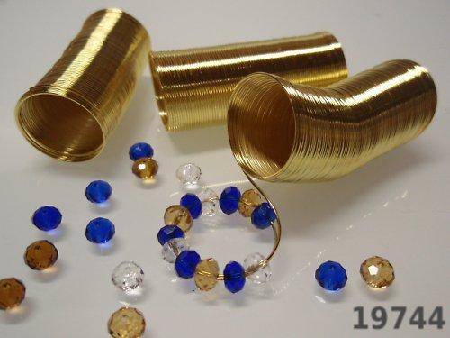 19744-20 Paměťový drát prstýnkový ZLATÝ 20 otoček