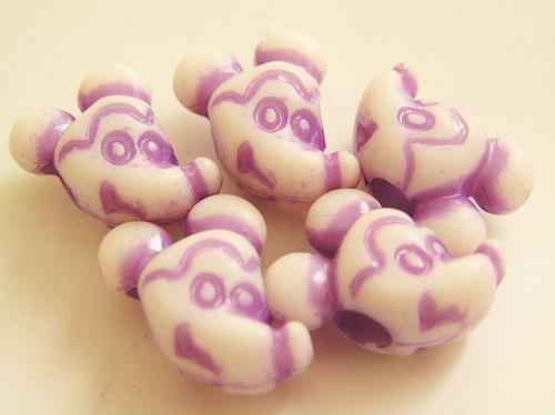 Dětské korálky - myšák fialový