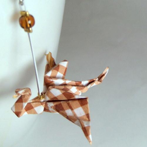 Dračí čtverečky - Origami náušnice