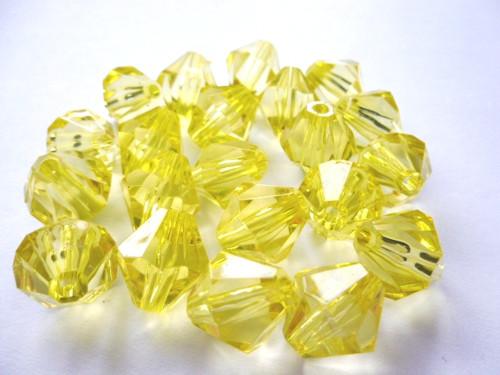 Korálky Cínovky žluté 14mm/10ks