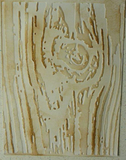 Embossovaný polotovar k dotvoření - dřevo