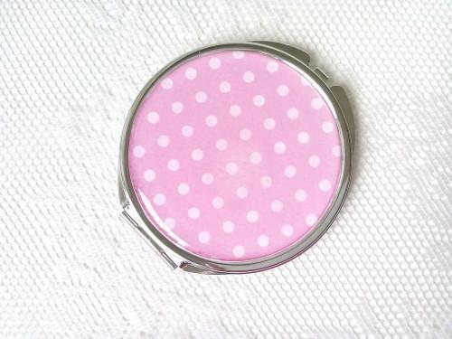 Retro mirror (pink/white polka dots)