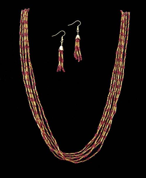 Spr náhrdelník a náušnice - retro, vintage