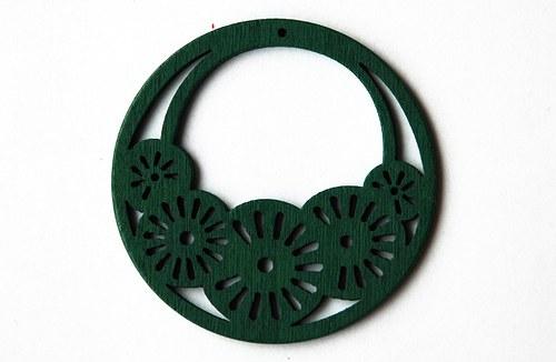 dřevěné kolečko- zelené
