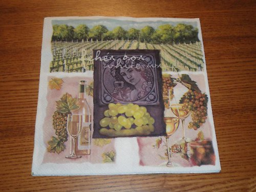 Ubrousek na decoupage - vinice