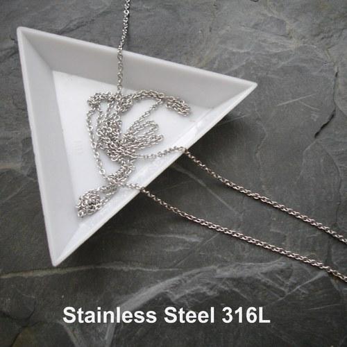 Řetízek 1,8x1,5x0,4mm Stainless Steel 316L - 0,5 m