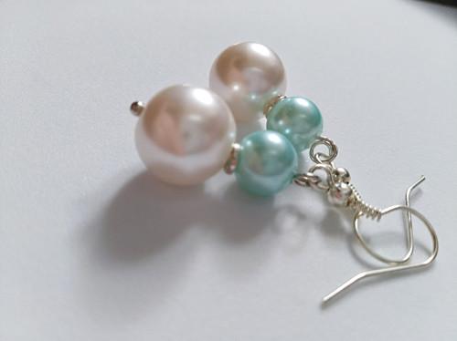Náušnice - Malá mořská víla