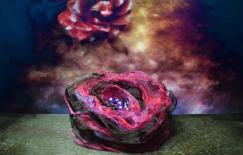 Brož květina nejen na klobouk 9117