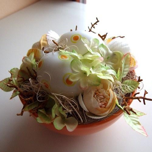 Velikonoční dekorace oranžovo-zelená (38)