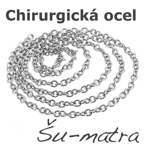 Řetízek z chirurgické oceli, 1,8x1,5mm (1 m)