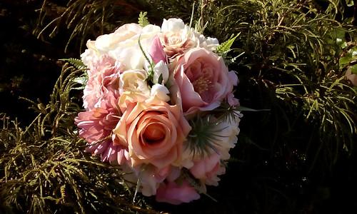 Svatební kytice- pastelová