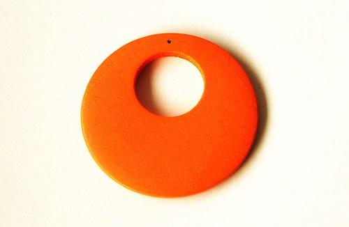 Dřevěné kolečko - oranžové