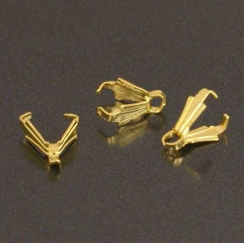 Očko na přívěsek - šlupna 4x8 mm zlatá 10ks