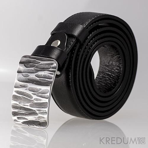 Kovaná nerez spona+kožený pásek Mistr 3X - Kant