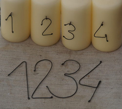 Čísla na adventní svíčky - 10 cm