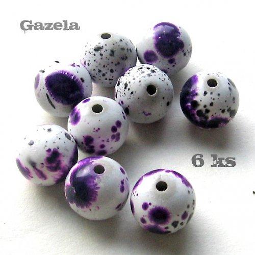 Kulička dalmatin fialová - 6 ks