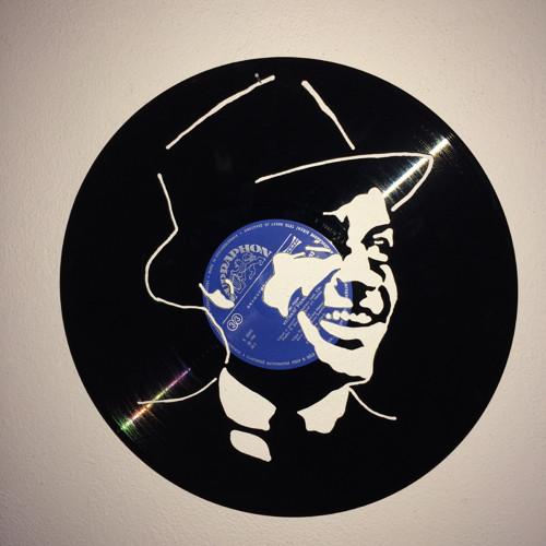 Frank Sinatra   portrét  vyřezáno do gramodesky