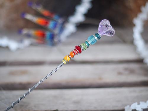 magická vílí duhová hůlka