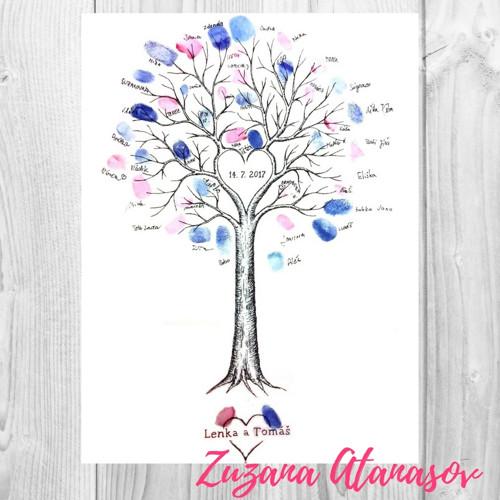 Svatební strom vysoký 30 x 40 cm
