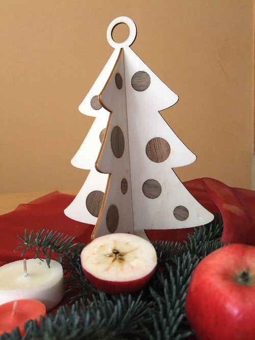 Vánoční strom, stromeček - BAŇKY 25 cm