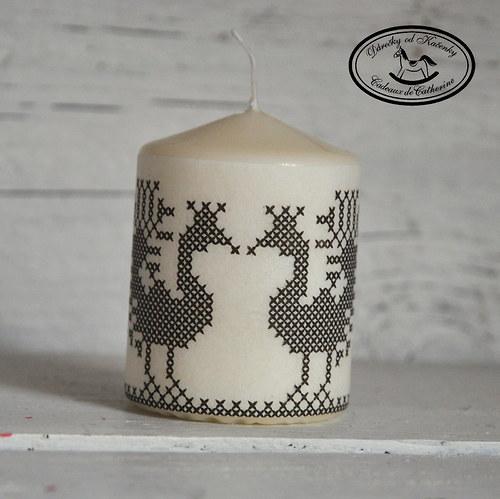 Svíčka s pávy
