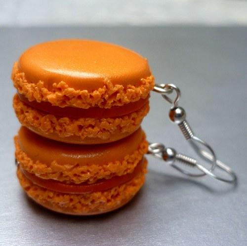 Makrónky - pomerančové náušnice