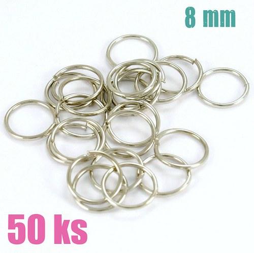 Platinové kroužky 8 mm (50 ks)