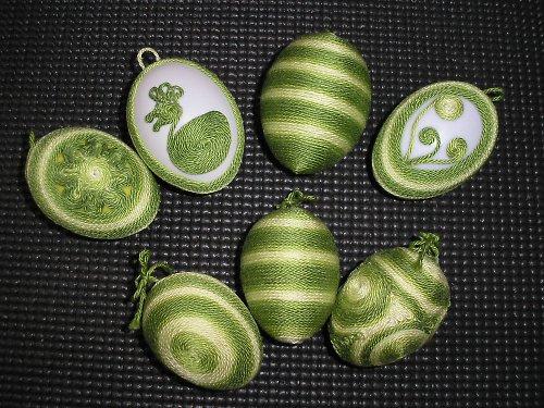 Zelená velikonoční vajíčka - sada 7 ks