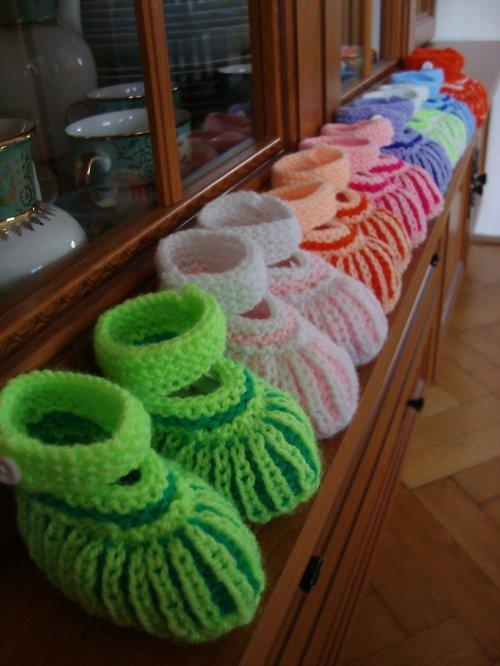 Dětské botičky - zelené