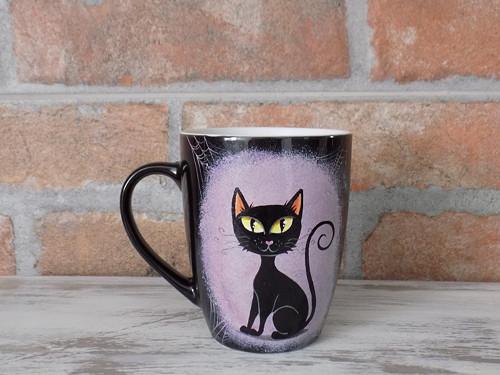 Čierny hrnček - Black Cat