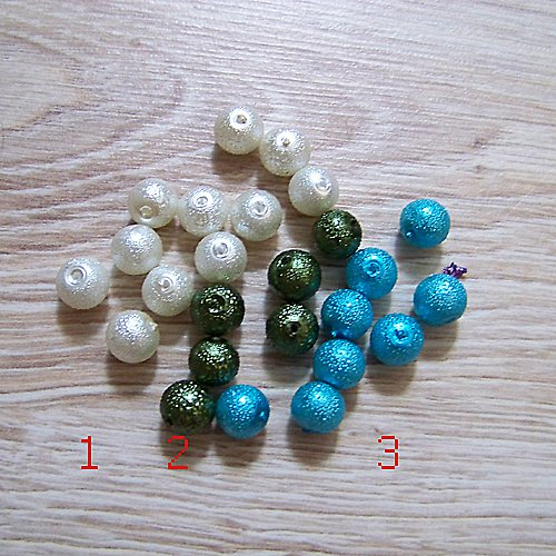 vroubkované voskové perly/ khaki č.2/ 8mm/ 10ks