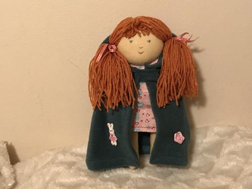 Jarní akce /Ručně šitá panenka -  s kabátkem