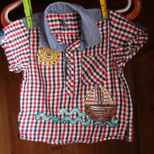 Košile recy  pro miminko vel. 3/6  měs.
