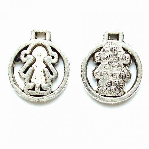 Přívěsek holčička tibetské stříbro 2 ks