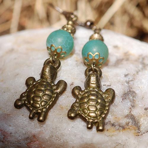 Želvy s dračími acháty ve starobronzu