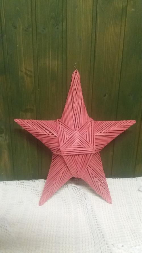 Trochu větší hvězda - červená ★☆
