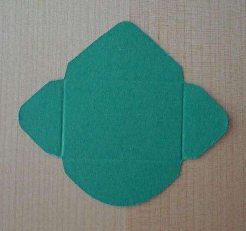 Výsek - obálka mini - tmavě zelená 1ks