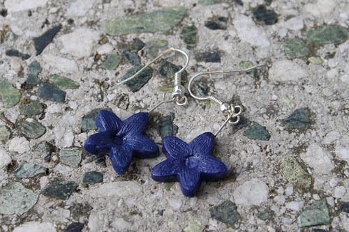Tmavomodré květinky