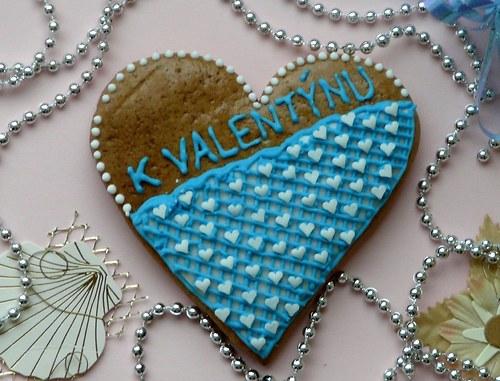 """Valentinské srdce s nápisem \""""K Valentýnu\"""""""