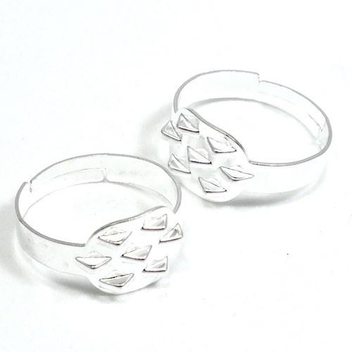 Základ na prsten stříbrný s očky, 2 kusy