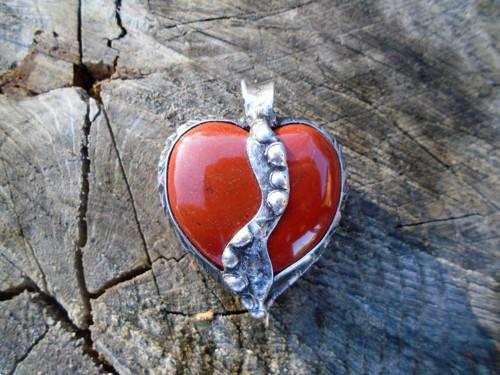 Ohnivé srdce - jaspis