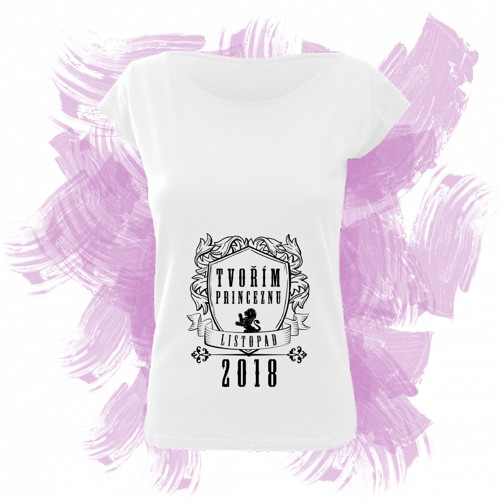 Tričko elegance s motivem - tvořím princeznu 1